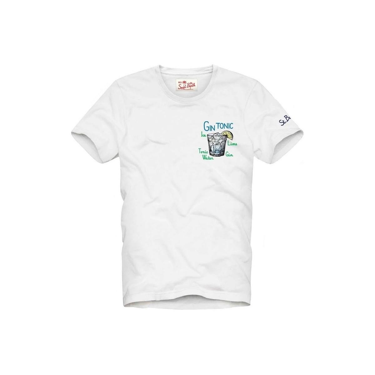 T-shirt MC2 Saint Barth con scritta ricamata MC2 SAINT BARTH | T-shirt | TSHIRT MANEMGT0N