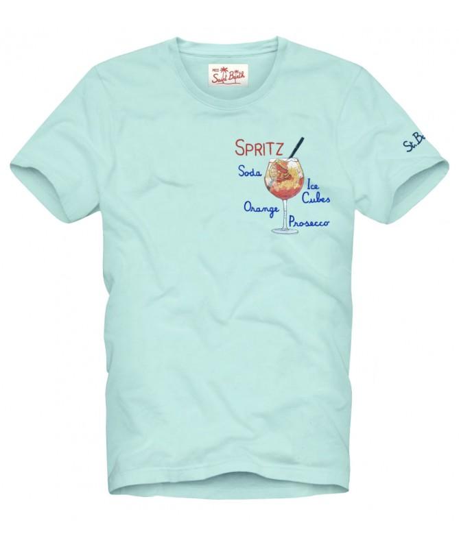 T-shirt MC2 Saint Barth con scritta ricamata MC2 SAINT BARTH | T-shirt | TSHIRT MANESPR56
