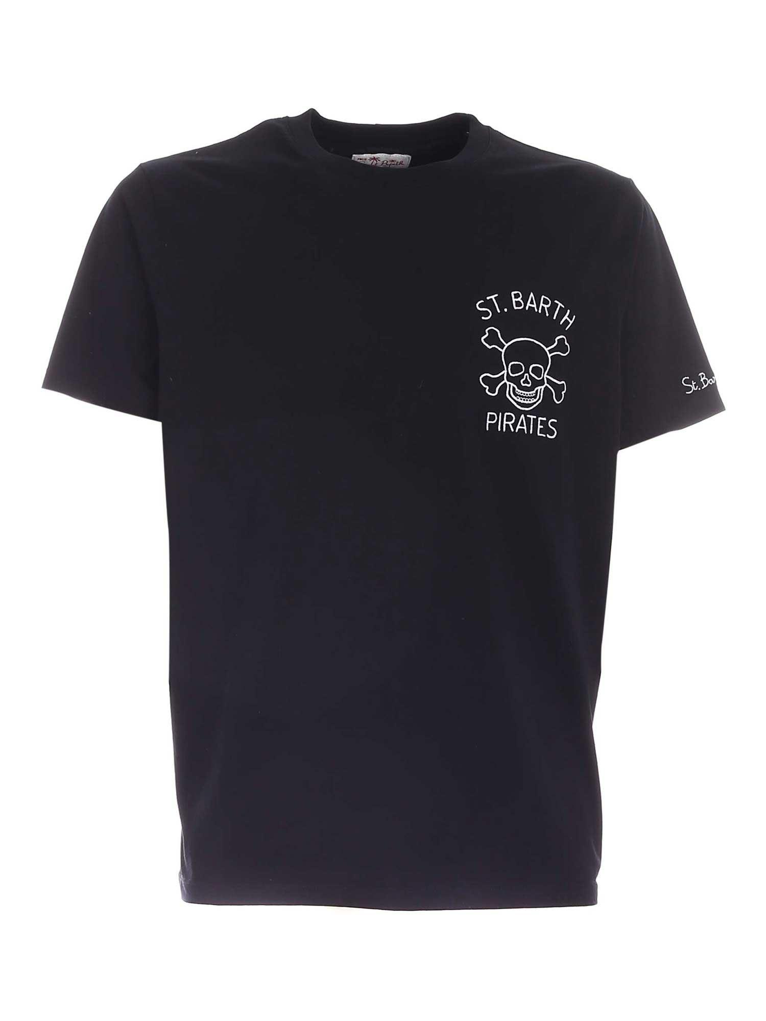 T-shirt MC2 Saint Barth con scritta ricamata MC2 SAINT BARTH   T-shirt   TSHIRT MANESPS00