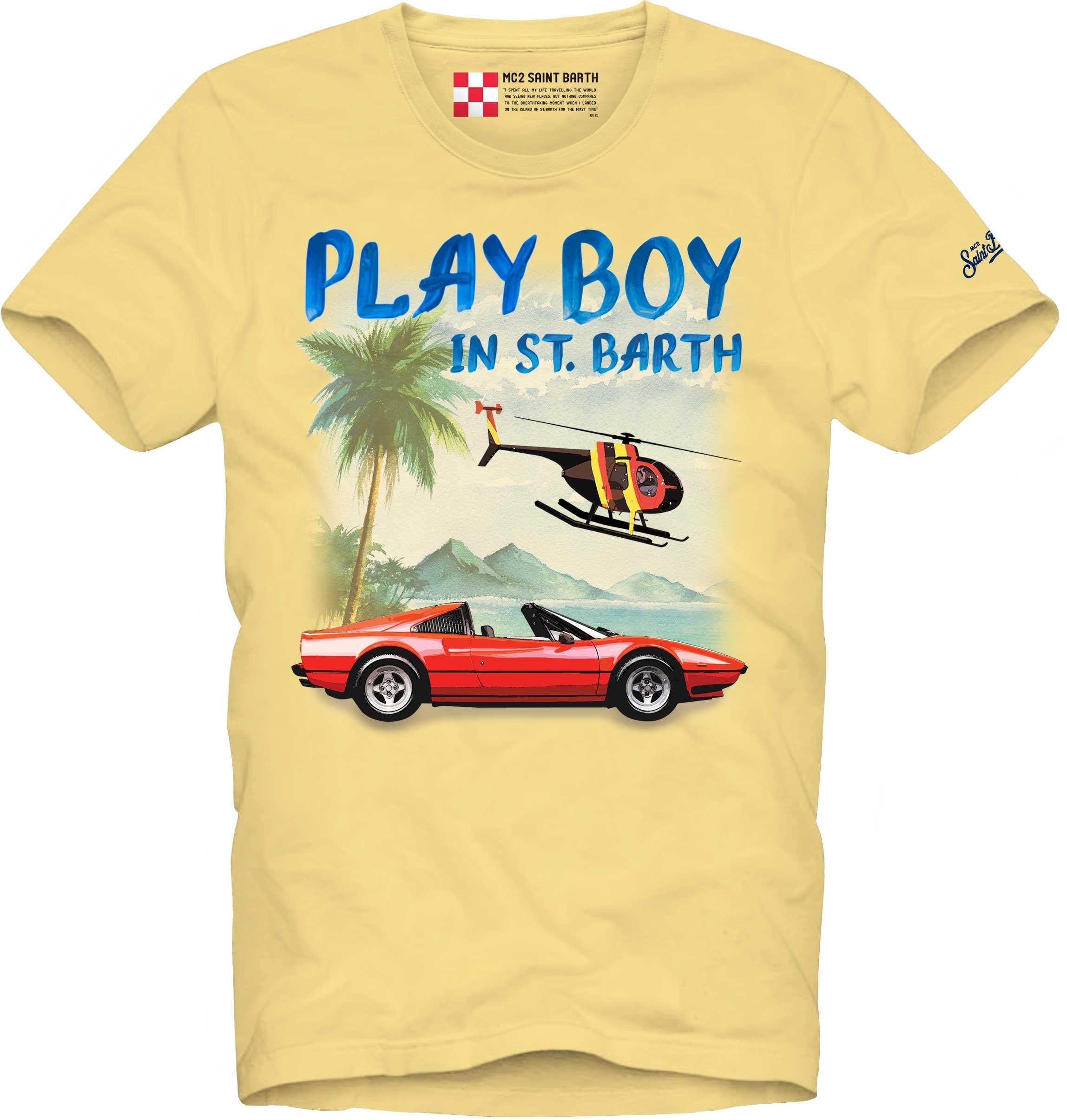 T-shirt MC2 Saint Barth con scritta stampata MC2 SAINT BARTH | T-shirt | TSHIRT MANPCAR92