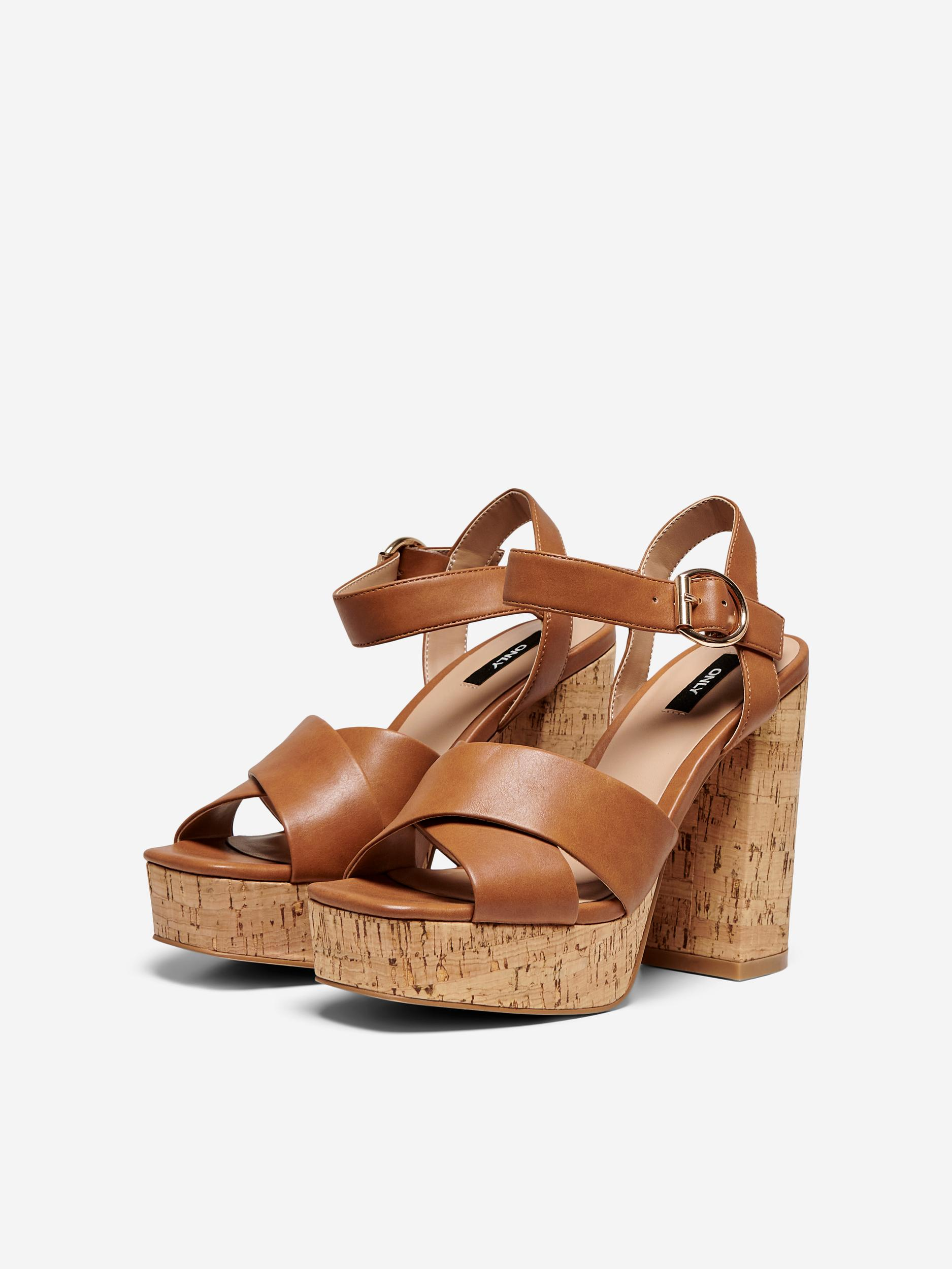 ONLATUMN-2 PU CORK HEELED SANDAL ONLY SHOES | Scarpe | 15226806COGNAC