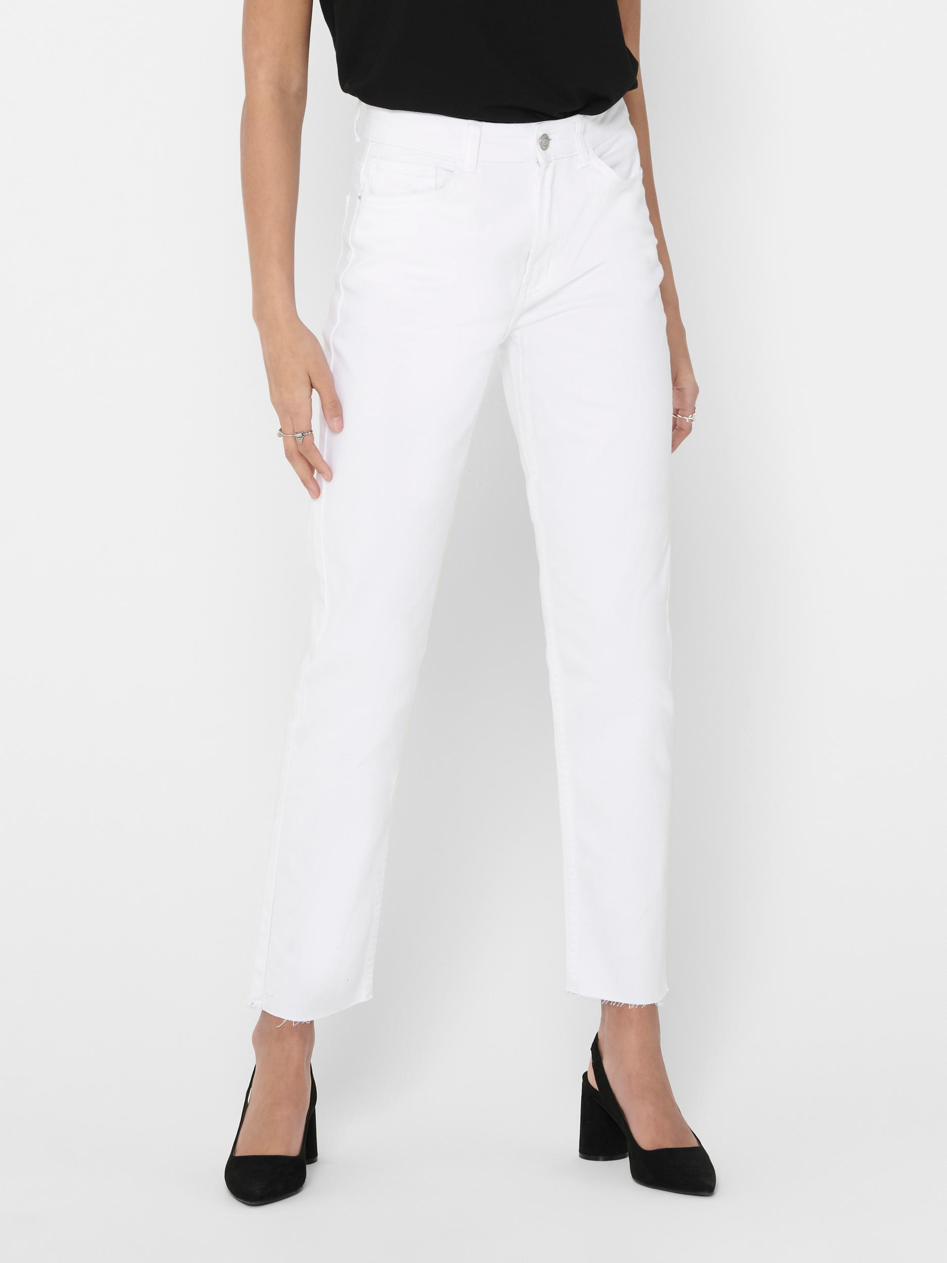 ONLEMILY  LIFE HW ST RAW CRPANK COL NOOS ONLY | Jeans | 15175323WHITE