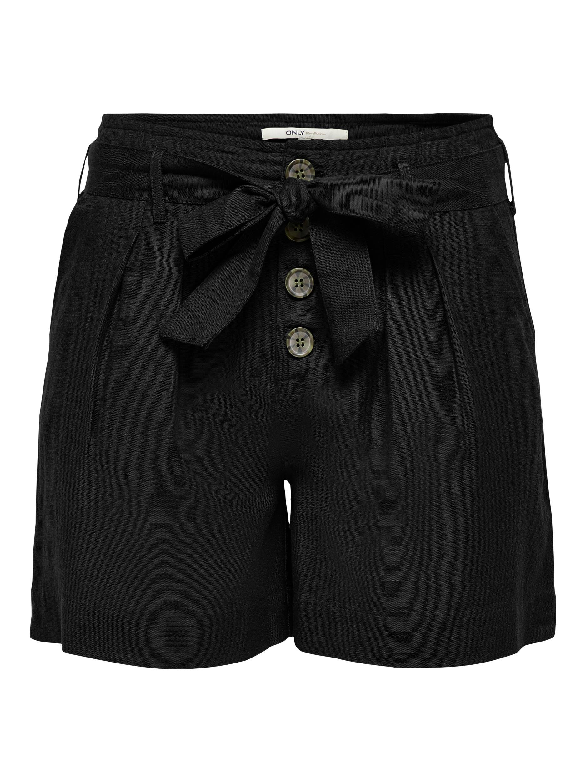 ONLVIVA LIFE HW BELT SHORTS PNT NOOS ONLY | Shorts | 15199801BLACK