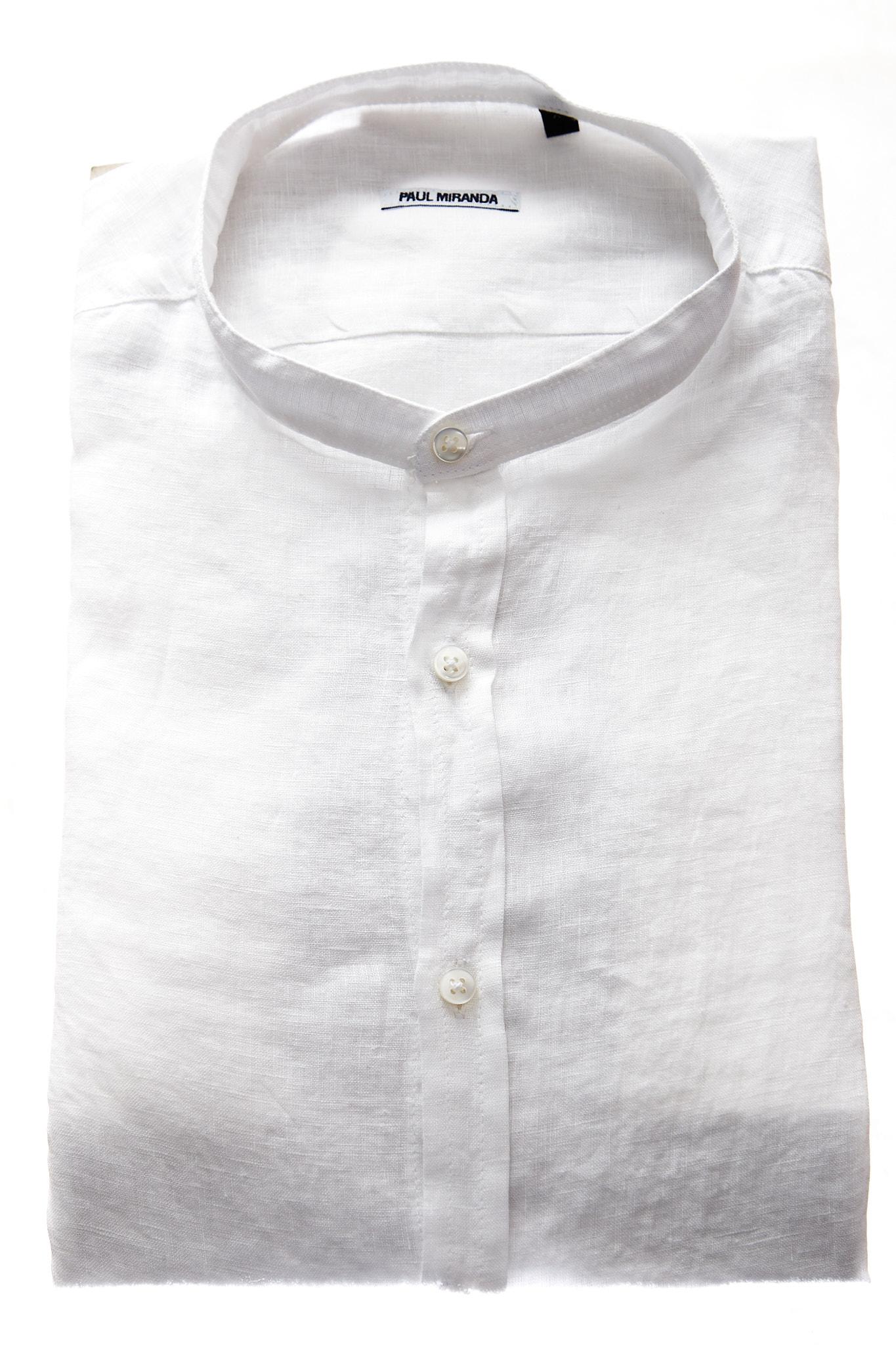 Camicia in lino Paul Miranda PAUL MIRANDA | Camicia | CA801BIANCO