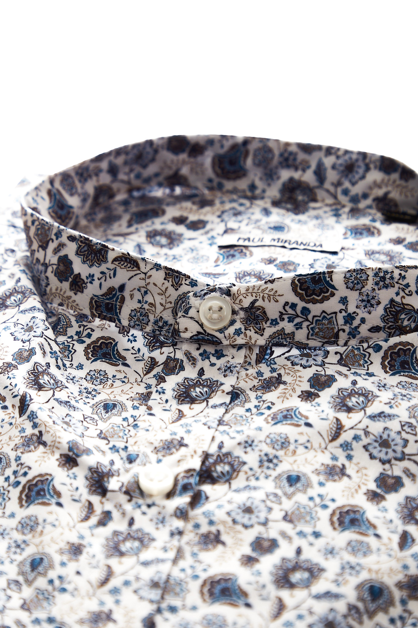Camicia in cotone Paul Miranda PAUL MIRANDA   Camicia   CA821BLU