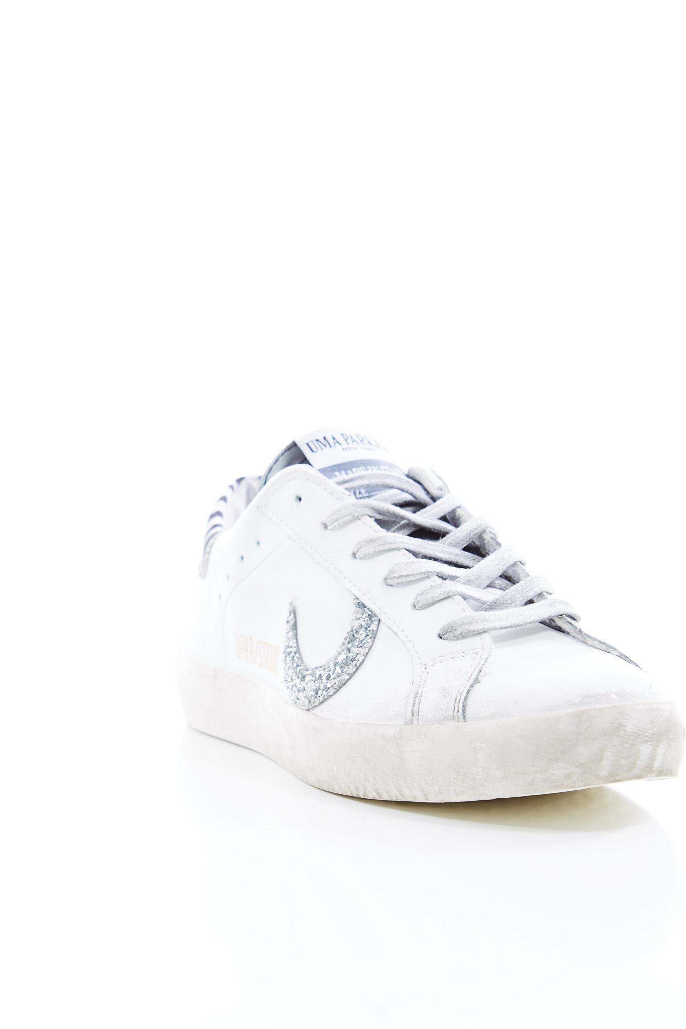 Sneakers basse in pelle UMA PARKER | Scarpe | SUPER MOONBIANCO/ZEBRA