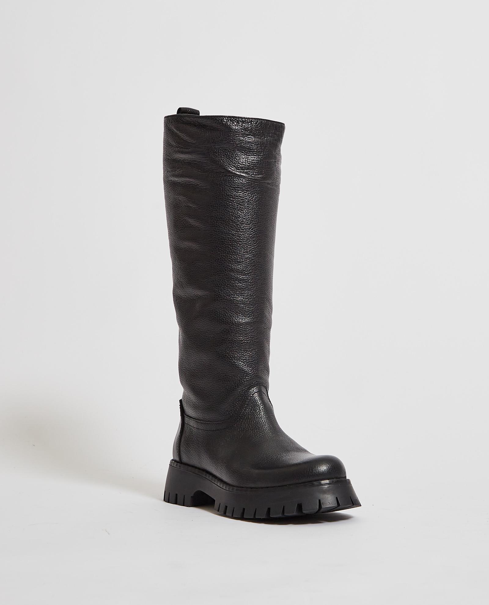 Stivali alti con suola in gomma ALBANO   Scarpe   1075NERO