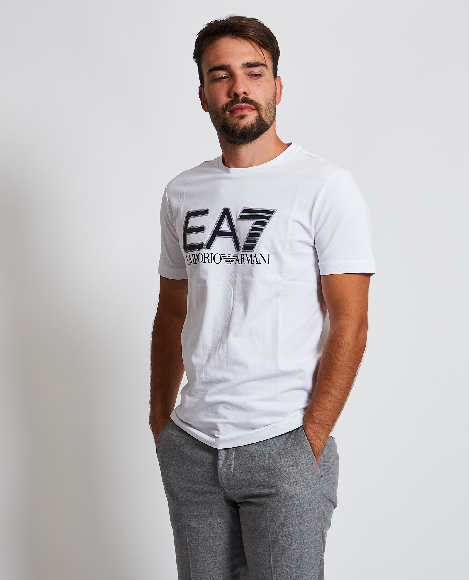 T-shirt con logo sul petto EA7 EA7 | T-shirt | 6KPT62-PJ03Z1100