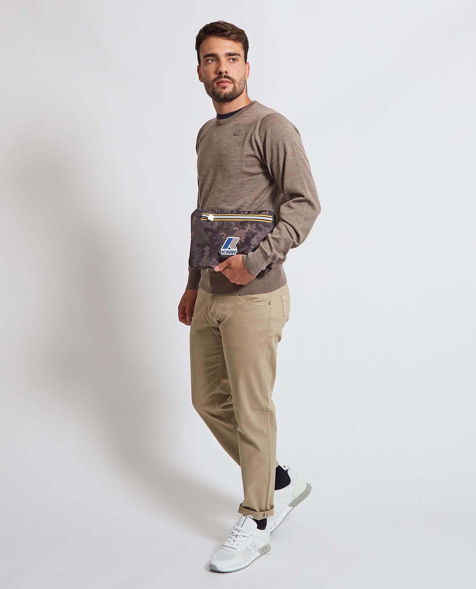 Pullover con logo K-way K-WAY   Maglia   K6113BW-SEBASTIEN UWG9