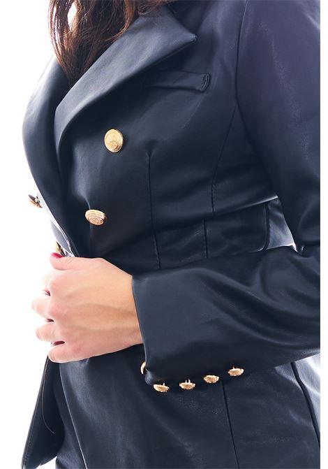 Blazer in pelle GIO CELLINI | Giacca | EJ029NERO