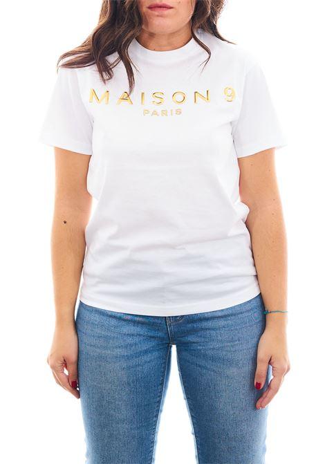 T-shirt MAISON 9 PARIS | T-shirt | M4113BIANCO/ORO