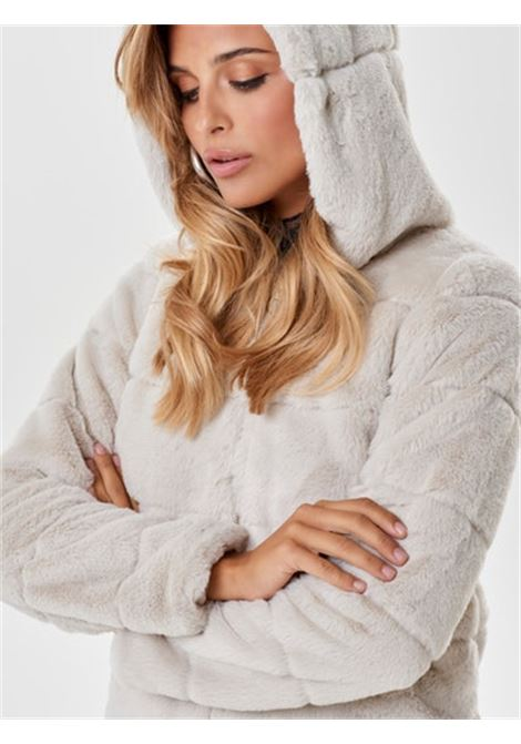ONLCHRIS FUR HOODED JACKET OTW NOOS ONLY | Giubbotto | 15156560PUMICE STONE
