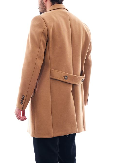 Cappotto in tessuto strutturato SETTE/MEZZO   Cappotto   CPS720-TWENTECAMMELLO
