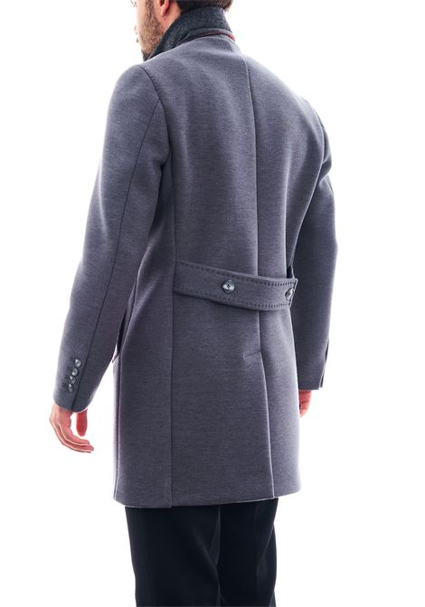 Cappotto in tessuto strutturato SETTE/MEZZO | Cappotto | CPS720-TWENTEGRIGIO