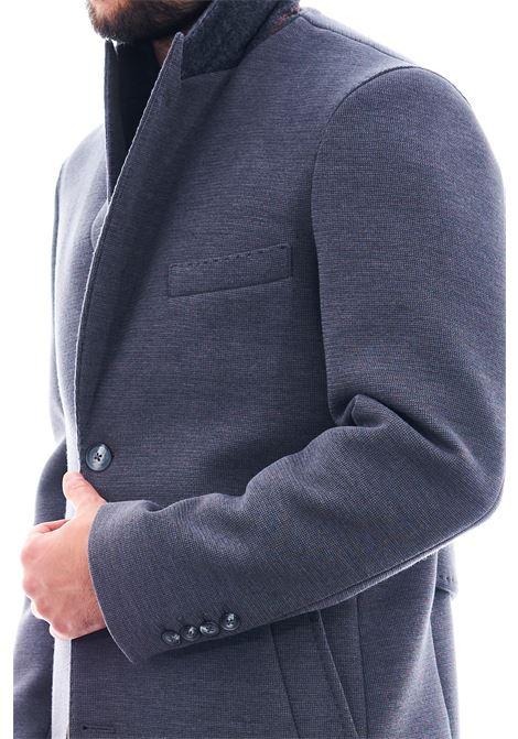 Cappotto in tessuto strutturato SETTE/MEZZO   Cappotto   CPS720-TWENTEGRIGIO