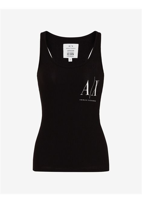 Top a Tinta Unita Armani Exchange con logo ARMANI EXCHANGE | Top | 8NYMFX-YJ1LZ1200