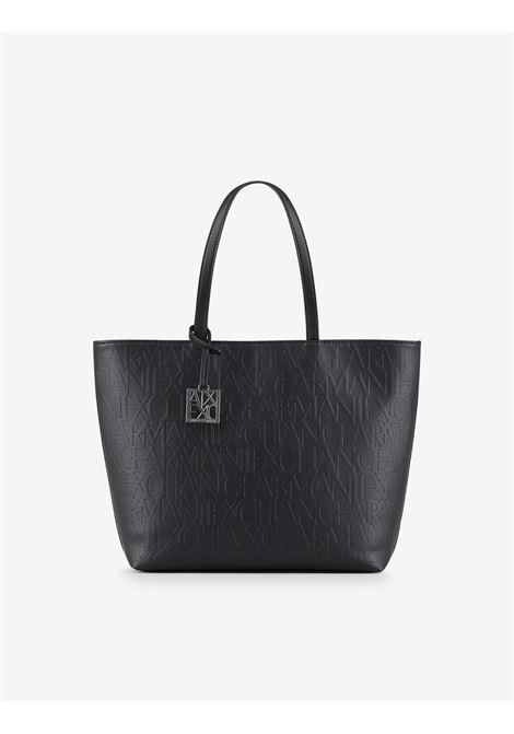 Shopper con logo allover ARMANI EXCHANGE   Borsa   942650-CC79300020