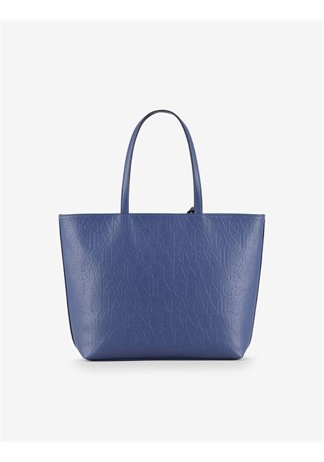 Shopper con logo allover ARMANI EXCHANGE | Borsa | 942650-CC79301831