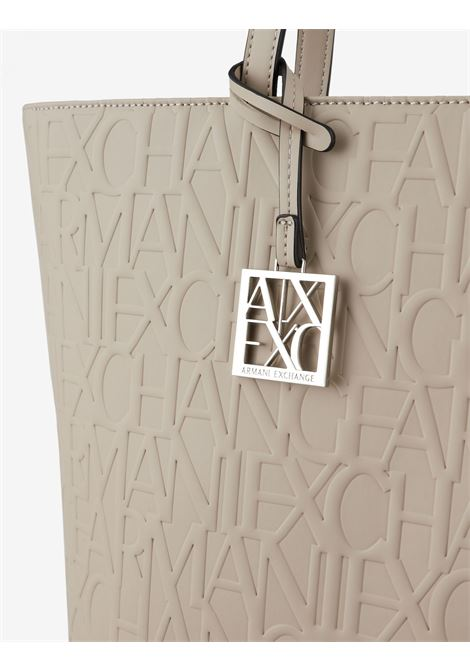 Shopper con logo allover ARMANI EXCHANGE   Borsa   942650-CC79344620