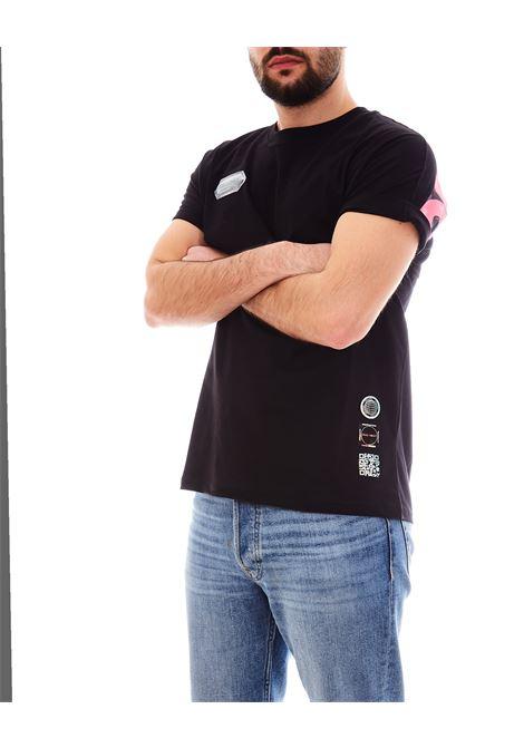 T-shirt DISCLAIMER | Maglia | EDS50610NERO/FUXIA