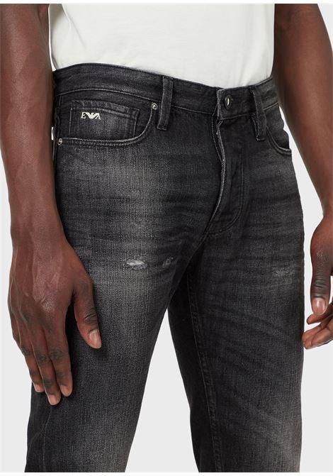 Jeans J75 slim fit in denim con rotture Emporio Armani EMPORIO ARMANI | Pantalone | 3K1J75-1DX4Z0006