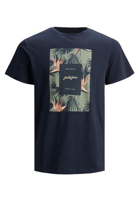 Jorflorall Print T-shirt JACK&JONES | T-shirt | 12186330NAVY BLAZER