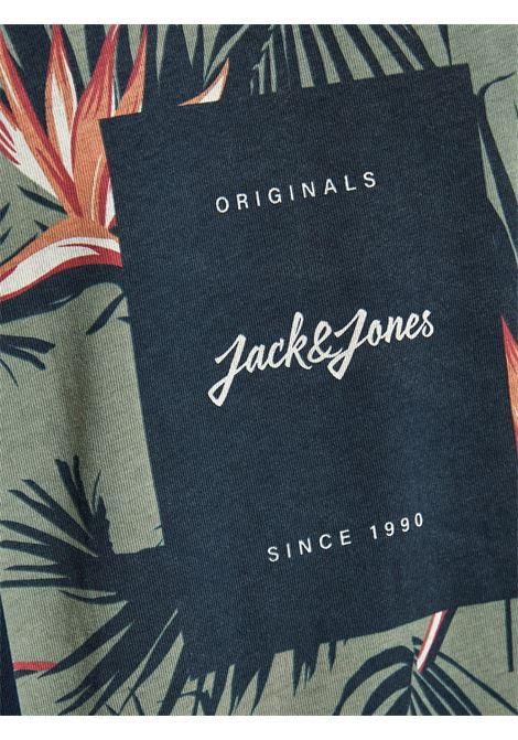 Jorflorall Print T-shirt JACK&JONES   T-shirt   12186330NAVY BLAZER