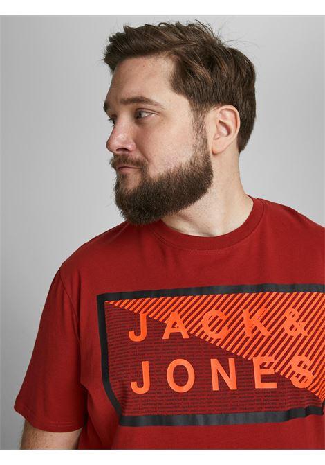 Coshawn tee crew neck plus JACK&JONES | T-shirt | 12186827RED OCHRE