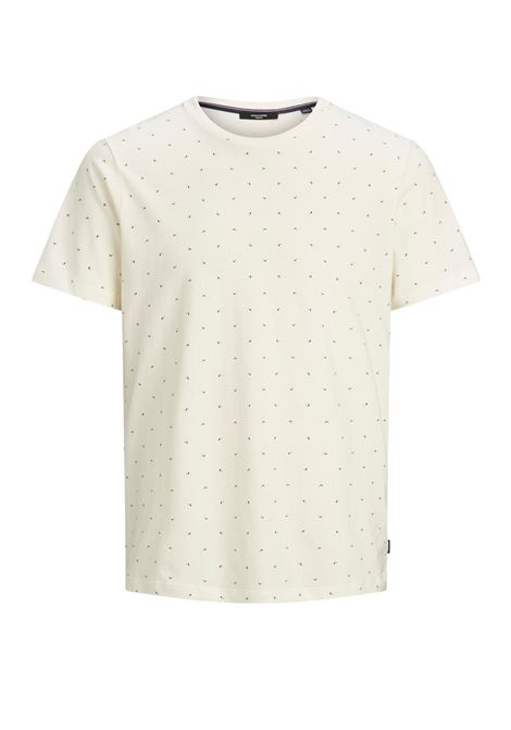 JPRBLAGABRIEL SS TEE AOP CREW NECK JACK&JONES | T-shirt | 12187792EGRET