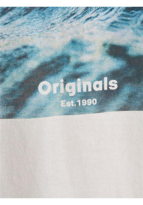JORAZURE TEE SS CREW NECK JACK&JONES | T-shirt | 12189032CLOUD DANCER