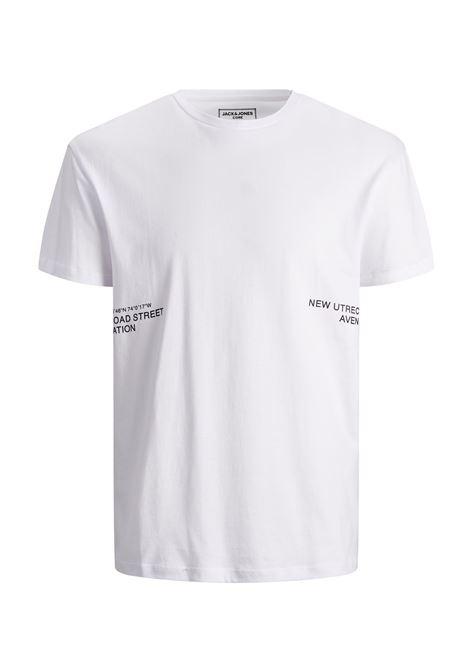 JCOMETRO TEE SS CREW NECK JACK&JONES | T-shirt | 12190057WHITE
