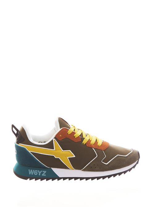 Sneaker in tessuto e pelle W6yz JUST SAY WIZZ | Scarpe | JET-MMILITARY/YELLOW
