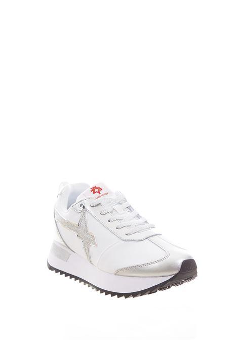 Sneaker in tessuto e pelle W6yz  JUST SAY WIZZ | Scarpe | KIS-W.SILVER/WHITE