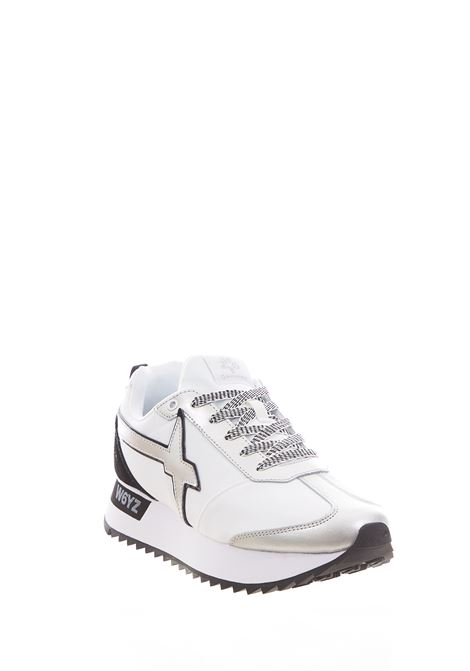 Sneaker in tessuto e pelle W6yz JUST SAY WIZZ | Scarpe | KIS-W.WHITE/SILVER