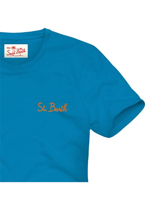 T-shirt MC2 Saint Barth con scritta ricamata MC2 SAINT BARTH | T-shirt | DOVERSB1781