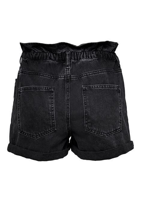ONLCUBA LIFE PAPERBAG DNM SHORTS NOOS ONLY | Shorts | 15200196BLACK DENIM