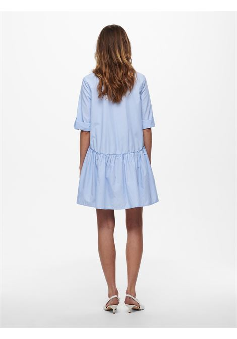 Only Chicago Life stripe 3/4 denim dress ONLY | Abito | 15223225WHITE