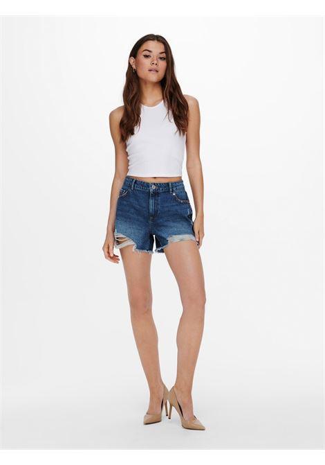 ONLSKY LIFE REG STUD DNM SHORTS PIM ONLY | Jeans | 15226997MEDIUM BLUE DENIM