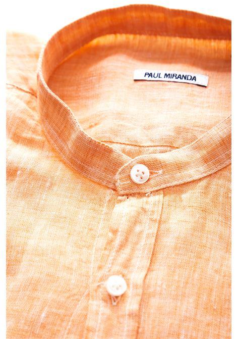 Camicia in lino Paul Miranda PAUL MIRANDA | Camicia | CA801ARANCIO