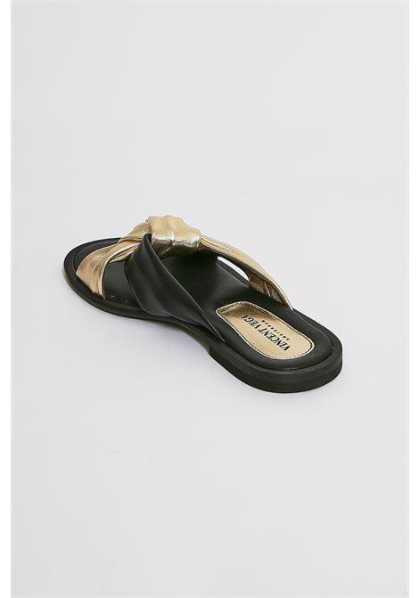 Sandali in vera pelle Vincent Vega VINCENT VEGA | Scarpe | AG04PLATINO