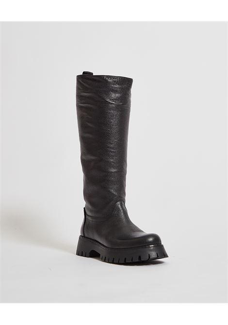 Stivali alti con suola in gomma ALBANO | Scarpe | 1075NERO