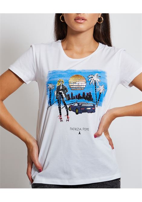 T-shirt con stampa PATRIZIA PEPE | T-shirt | 8M1368-A4S2F569