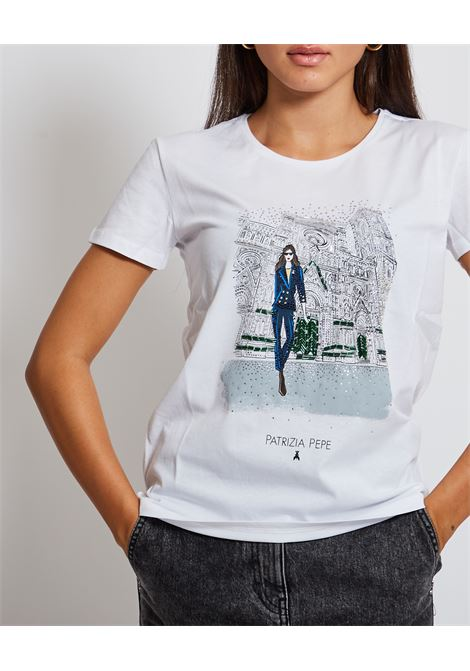 T-shirt con stampa PATRIZIA PEPE | T-shirt | 8M1368-A4S2F570