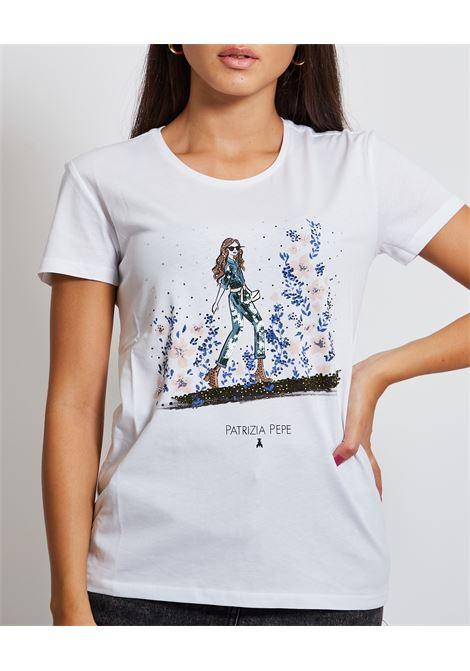 T-shirt con stampa PATRIZIA PEPE | T-shirt | 8M1368-A4S2F571