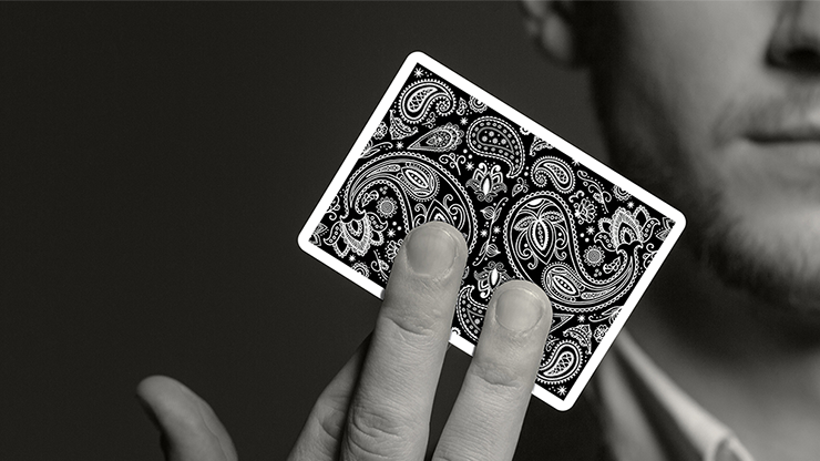 Paisley Playing Cards Workers Deck Black By Dutch Card House Company