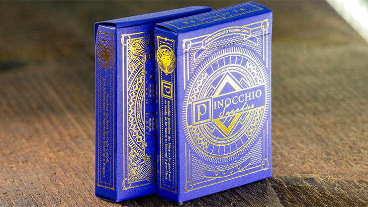 Blue Pinocchio Sapphire Playing Cards by Elettra Deganello