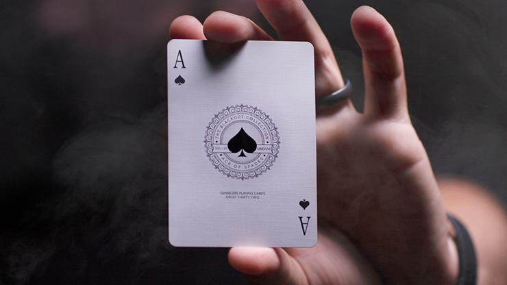 Gambler/'s Borderless Black Playing Cards Poker Size Deck USPCC Custom Limited