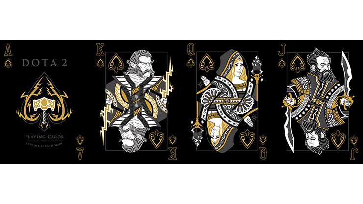 DOTA 2 Series 1 Playing CardsBlackPoker DeckCollectable