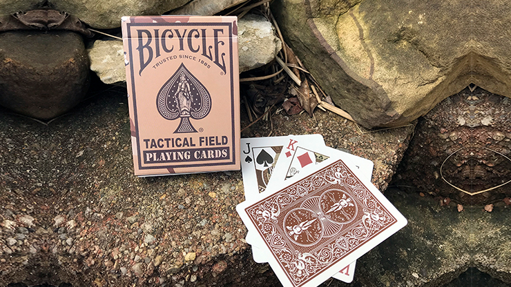 Bicycle Tactical Field Green Camo/Brown Camo (6 Decks) by US