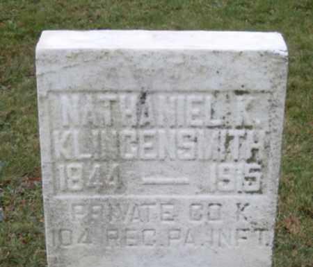 KLINGENSMITH (CW), NATHANIEL K. - Armstrong County, Pennsylvania | NATHANIEL K. KLINGENSMITH (CW) - Pennsylvania Gravestone Photos